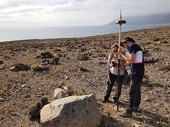 dGPS measurements at Paposo