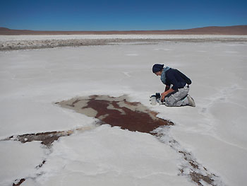 Pond water sampling at the Salar de Huasco Swea Klipsch 1 350px