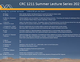 CRC 1211 Summer Lecture Series 2021