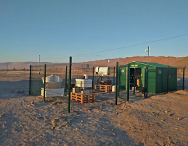 Remote sensing station in the Atacama desert at the Airport of Iquique/Chile